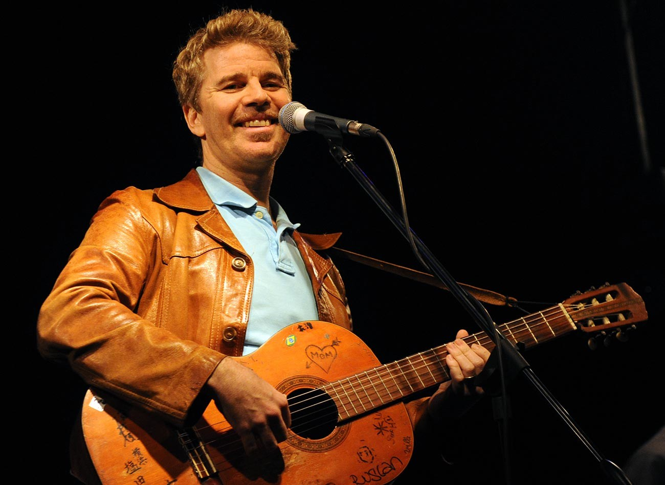 David Brown during a concert in Moscow
