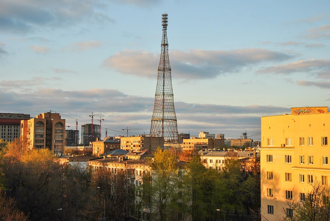 The Shukhov tower in Moscow