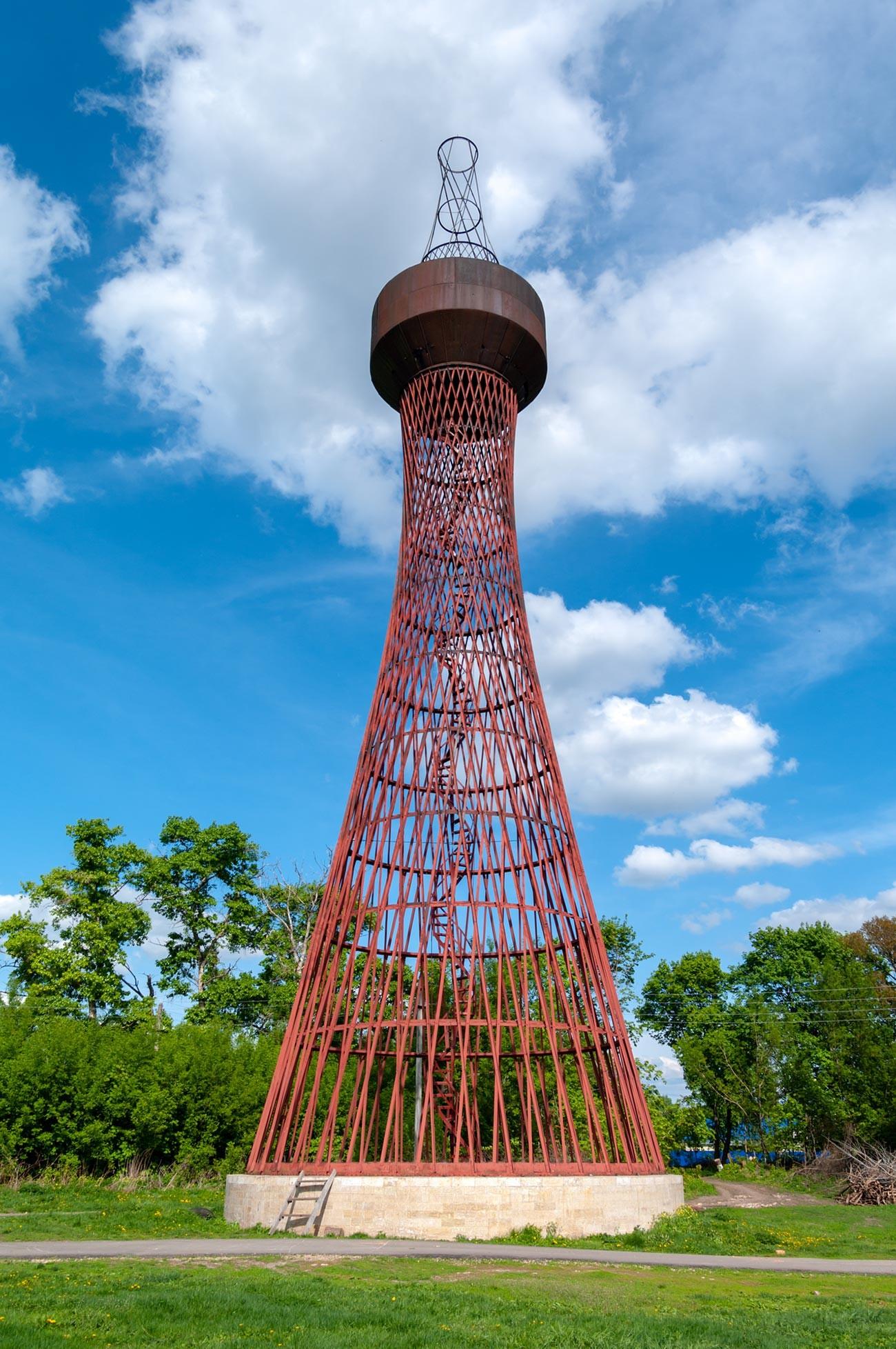 Shukhov's first hyperboloid tower in Polibino, Lipetsk oblast'.