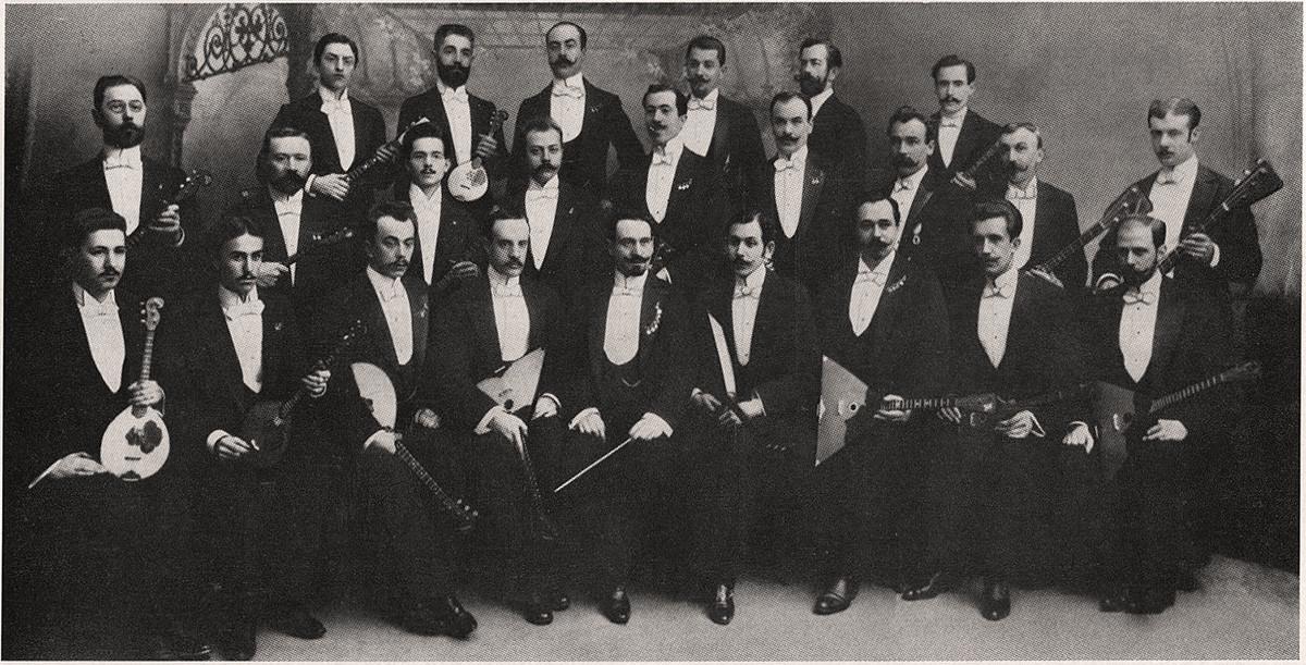 Великоруският оркестър на В.В. Андреев, началото на 1900-те