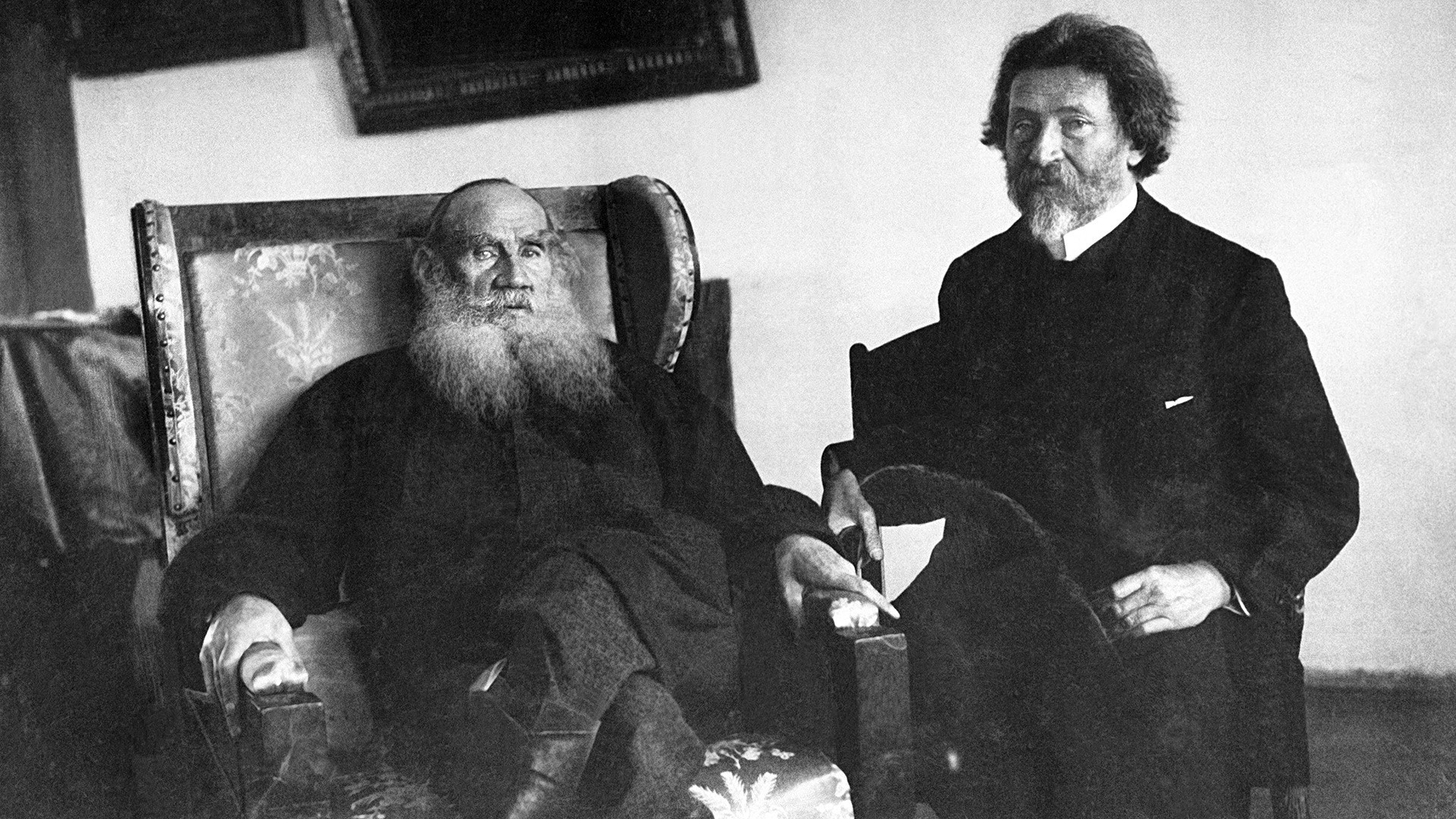 Léon Tolstoï et Ilia Répine
