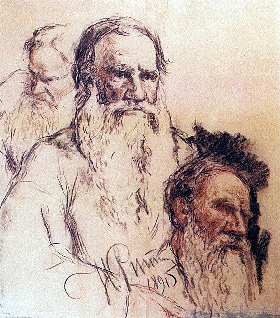 Croquis de L. Tolstoï