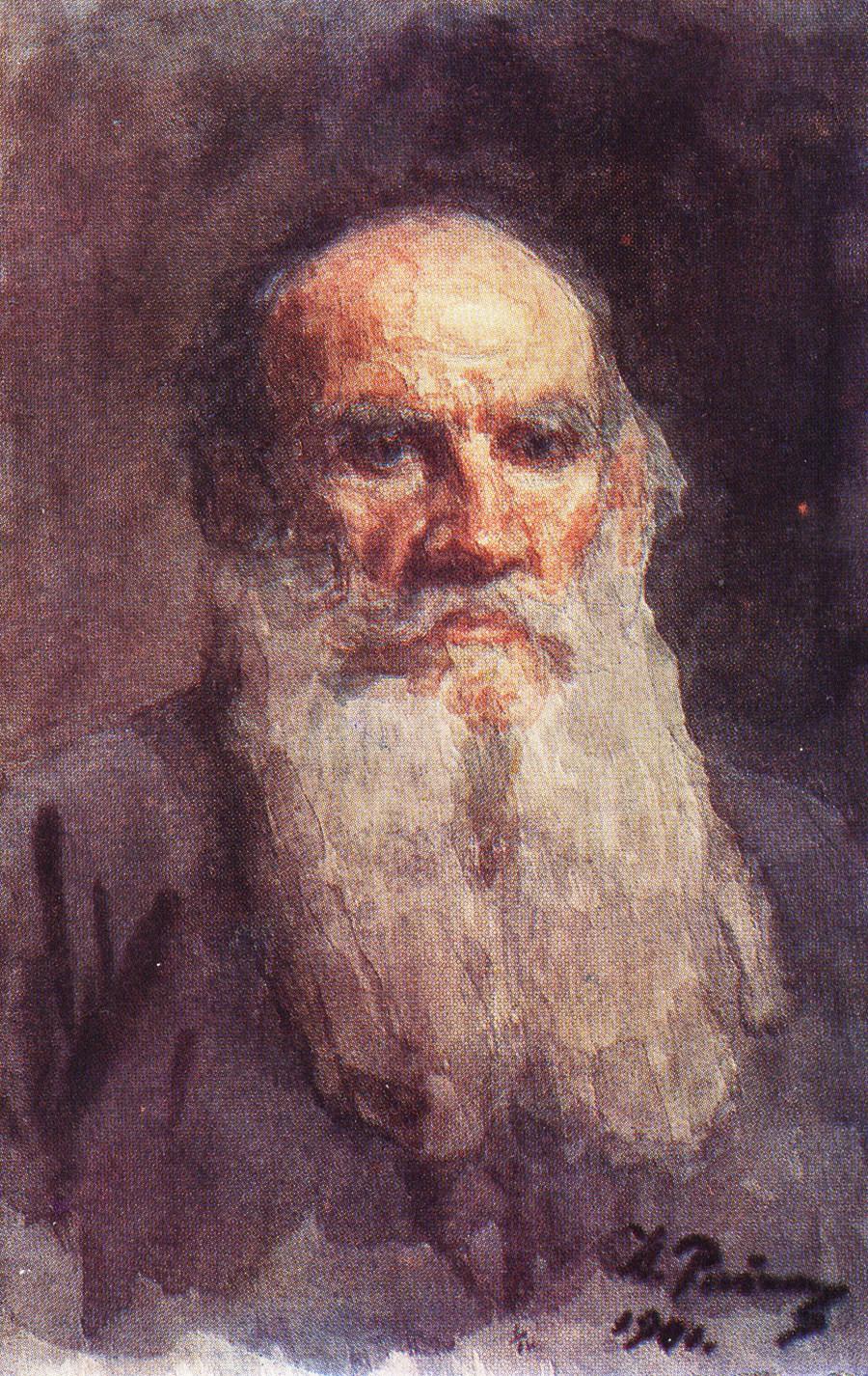 Portrait de Léon Tolstoï, 1901