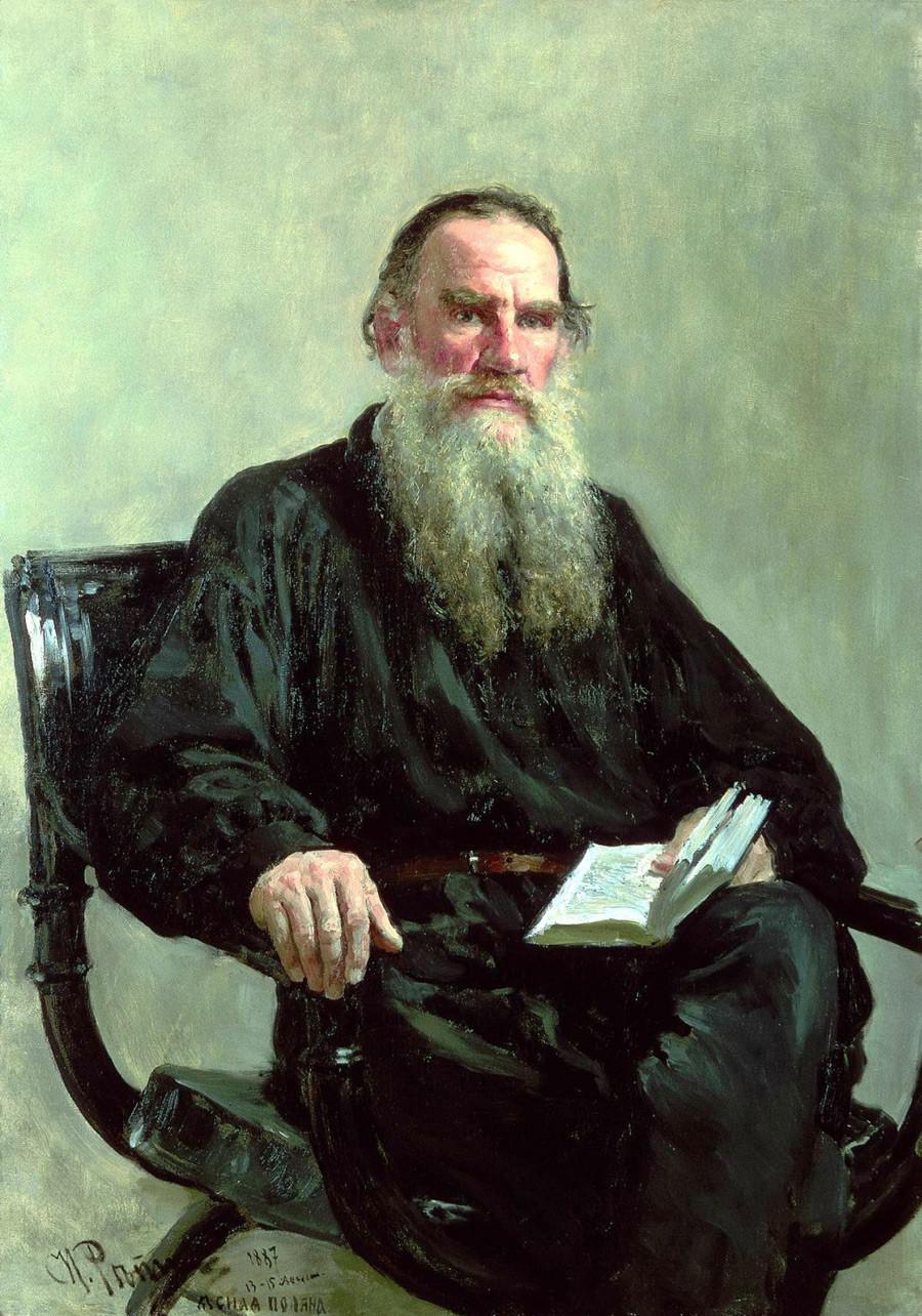 Portrait de l'écrivain Léon Tolstoï, 1887