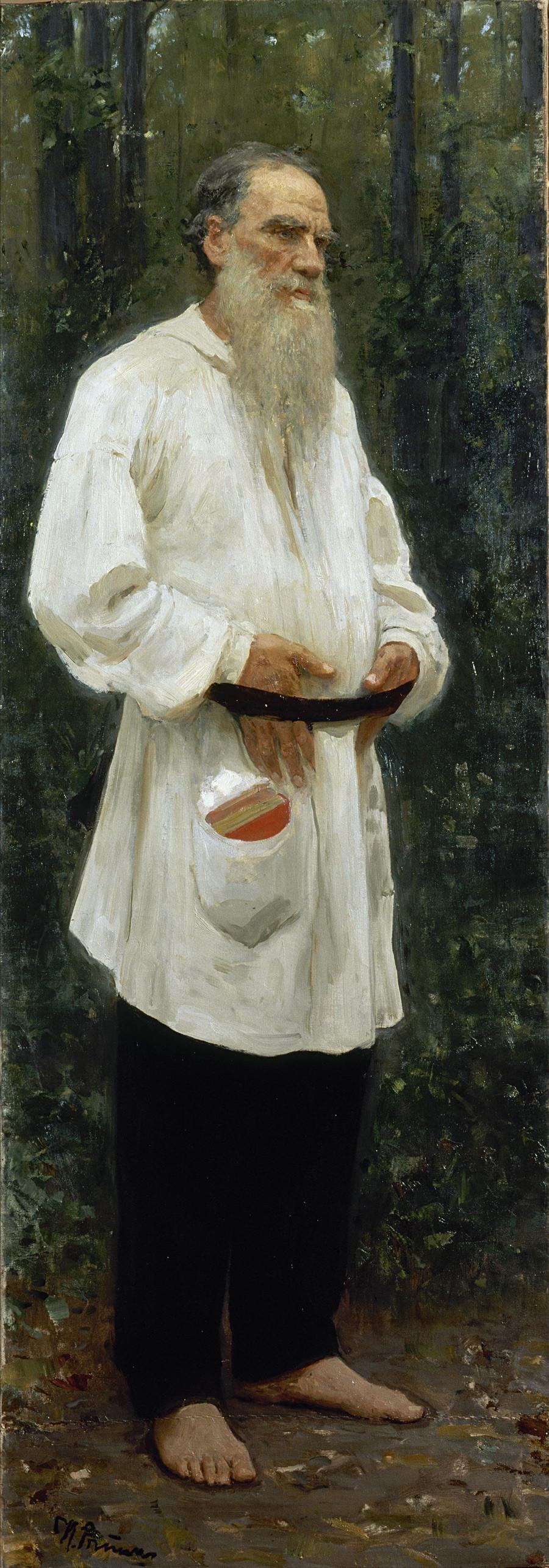 Léon Tolstoï pieds nus, 1901