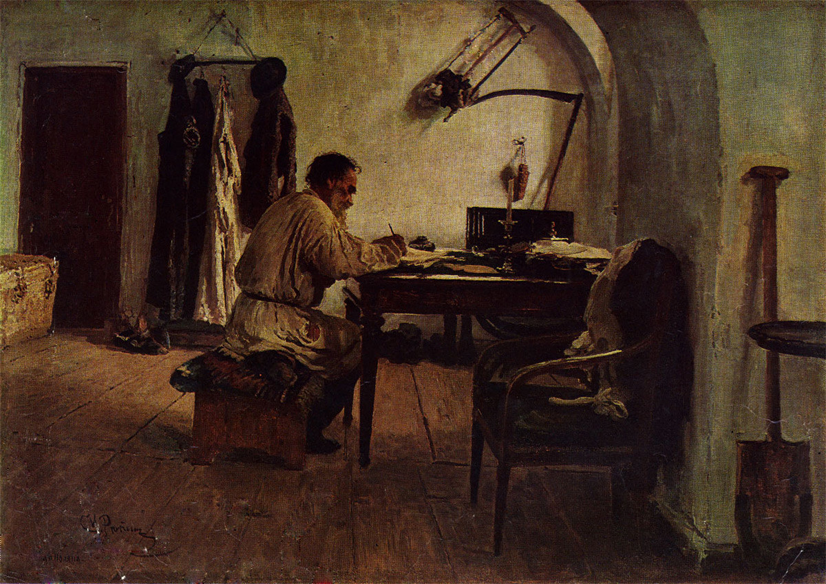 Tolstoï dans un cabinet japonais