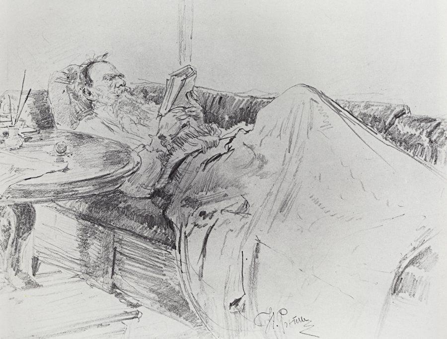 Léon Tolstoï lisant