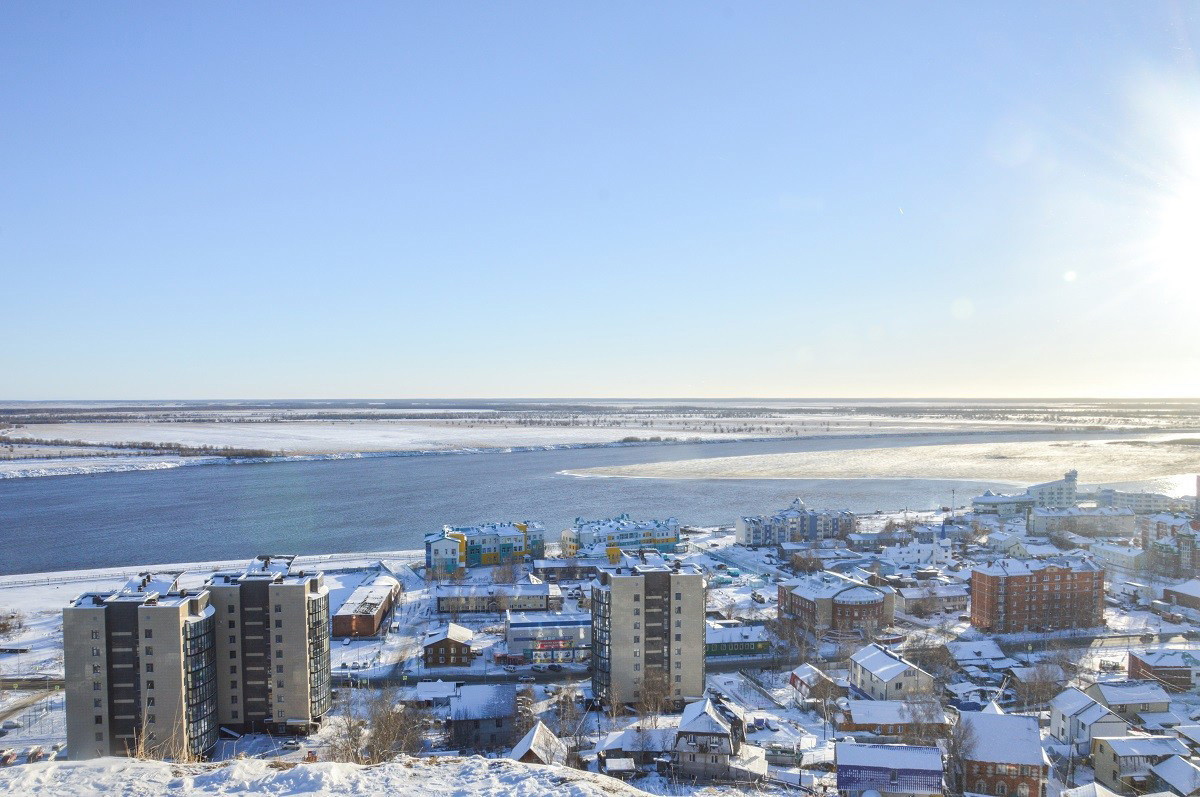View of the city and the Irtysh River