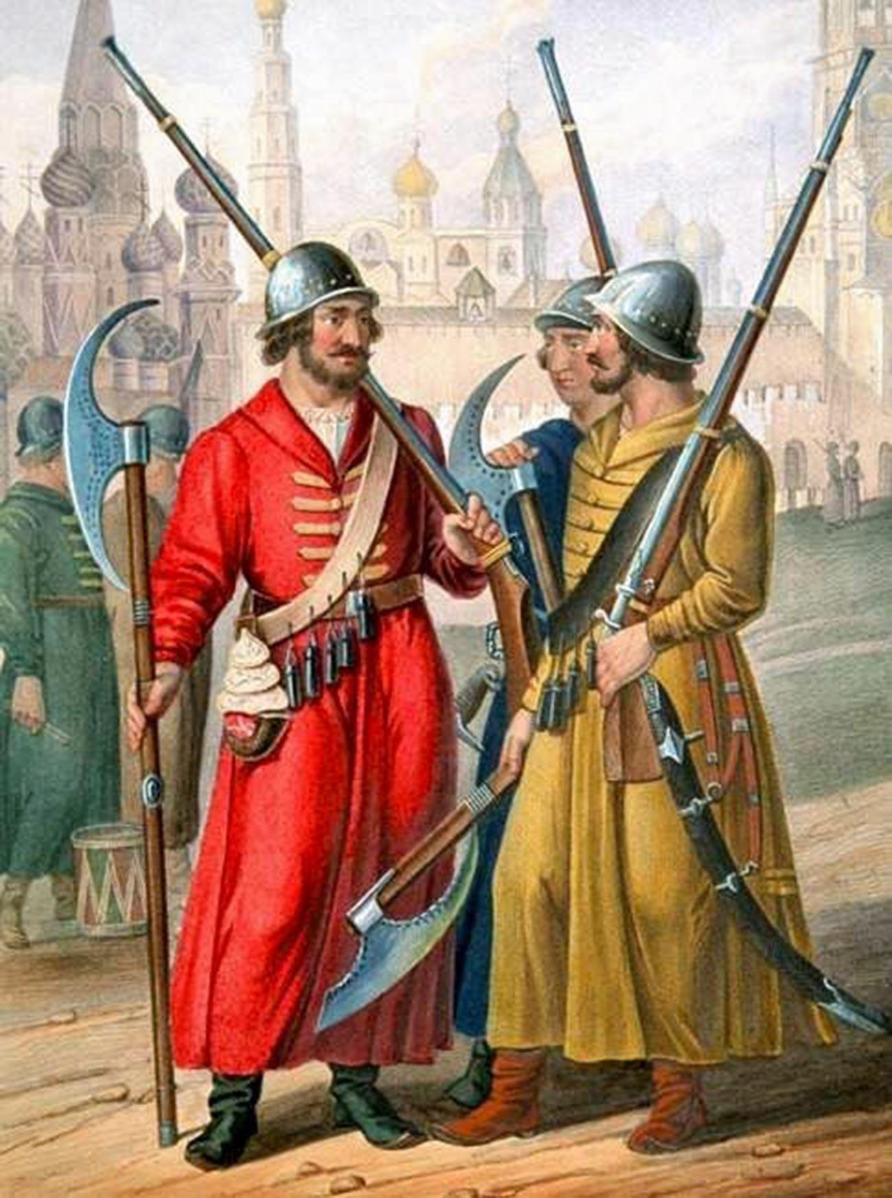1613年の銃兵(ストレリツィ)