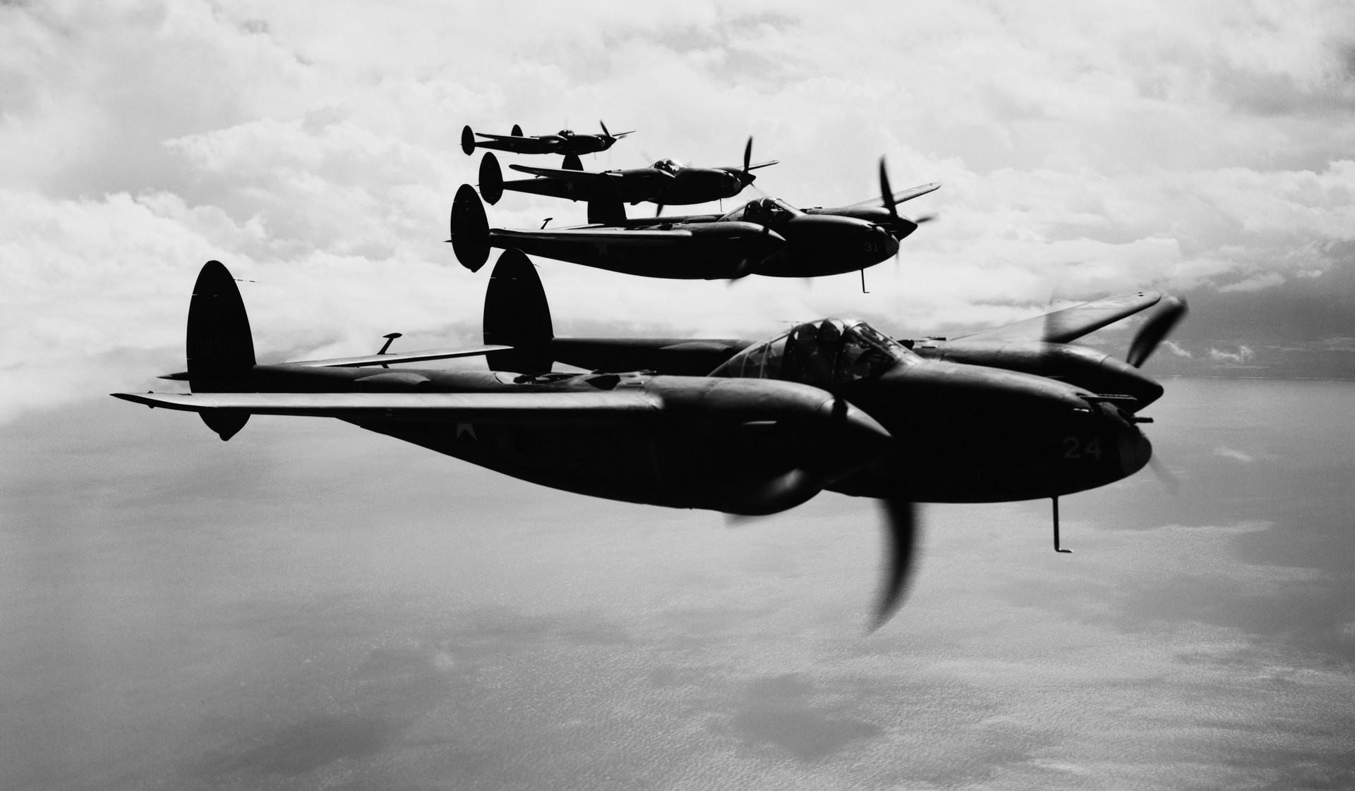 Esquadrão de caça de Lockheeds P-38.