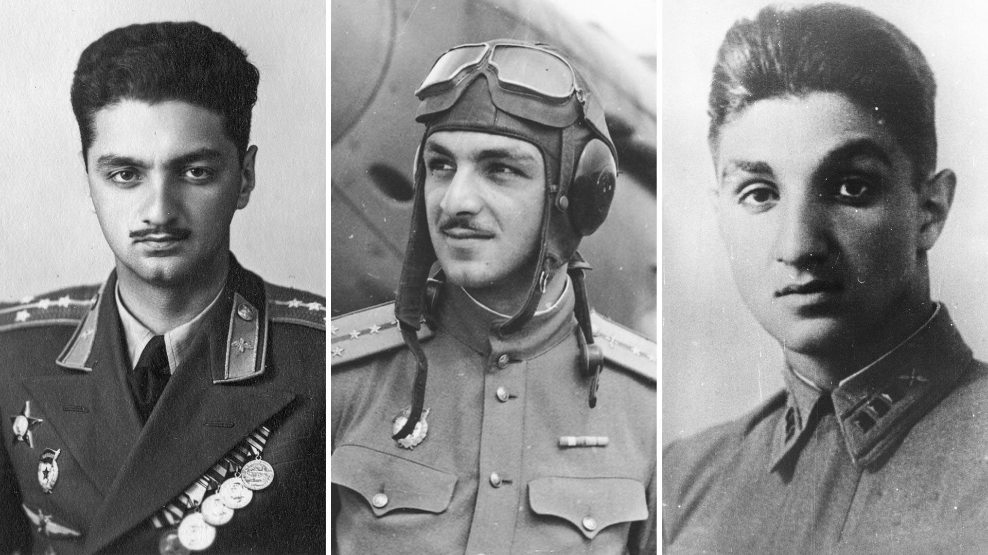 Aleksej, Stepan e Vladimir Mikojan, figli del commissario del popolo (ministro) Anastas Mikojan
