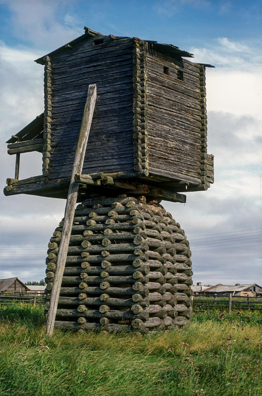 Kimzha. Post windmill. August 2, 2000