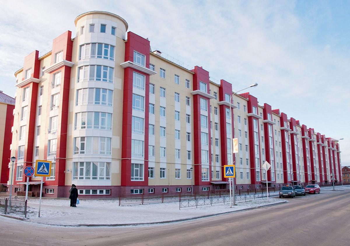 Gedung apartemen kembar yang dijuluki 'Tembok Besar Tiongkok'.