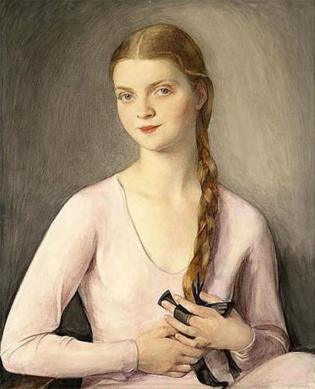 Potret Marina Feodorovna Chaliapina karya Sorin Savely Abramovich