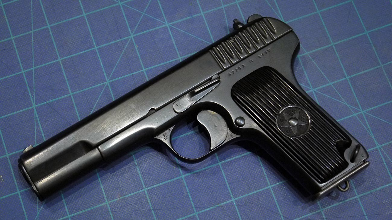 A Soviet produced TT-33 pistol made by the Tula Arsenal in 1937.