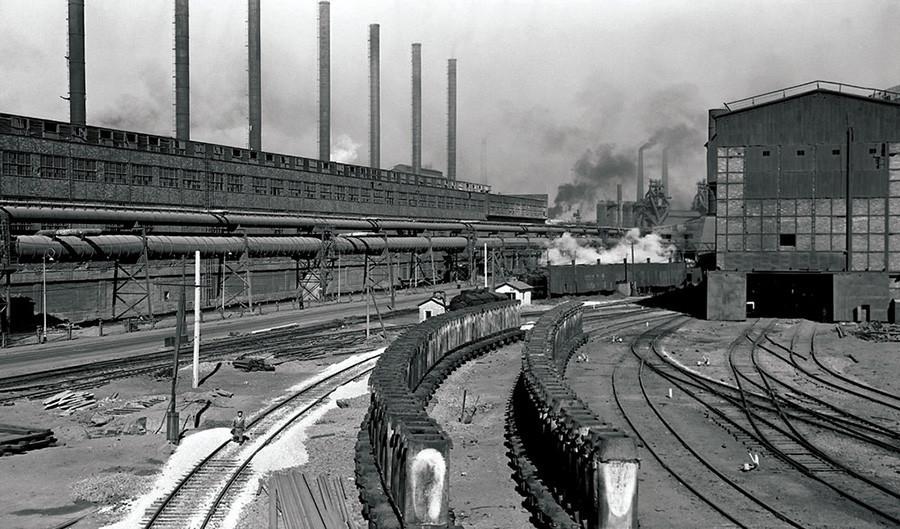 Metalurški kombinat, vlak s kovino