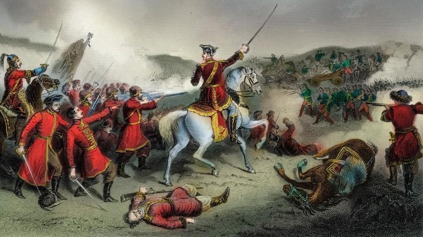 Die Schlacht bei Pultowa (auch Poltawa) am 27. Juni 1709 war der entscheidende Sieg Peters I. von Russland über Karl XII. von Schweden in einer der Schlachten des Großen Nordischen Krieges (1700-21) zwischen Russland und Schweden.