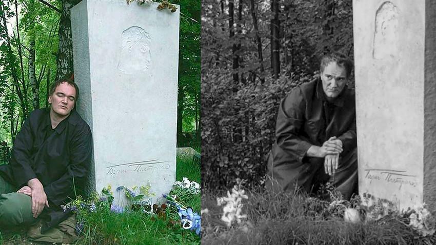 Tarantino at the Pasternak's grave