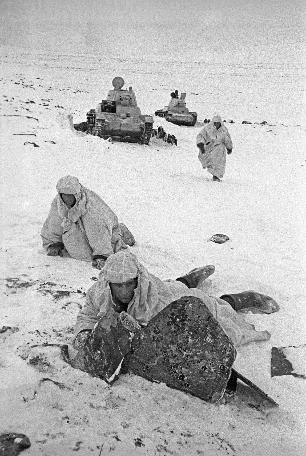Région polaire. Combats sur la péninsule de Rybatchi