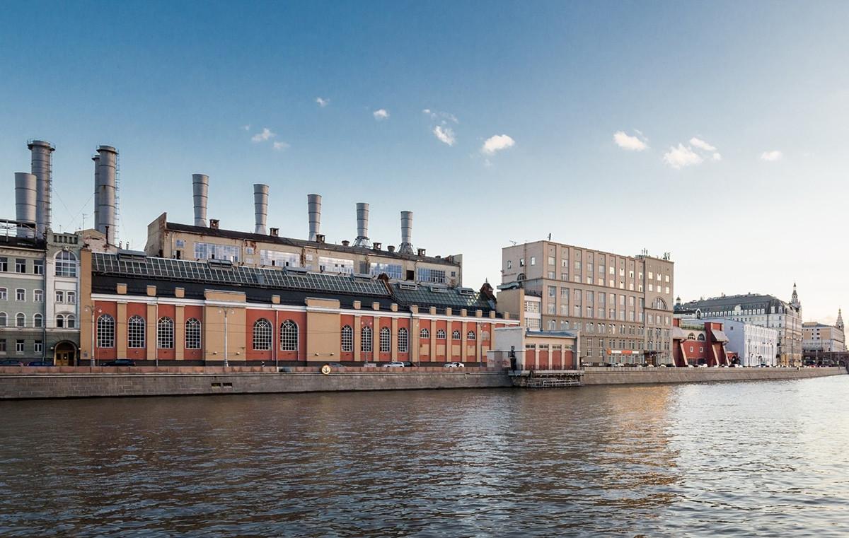 Das Wärmekraftwerk am Rauschskaja-Damm