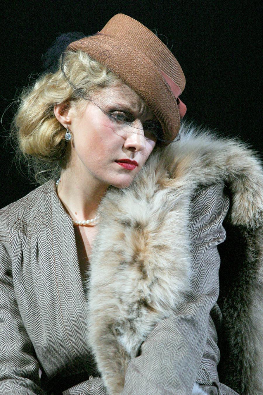 Renata Litvinova as Lyubov Ranevskaya in 'The Cherry Orchard' staged at the Moscow Art Theater.