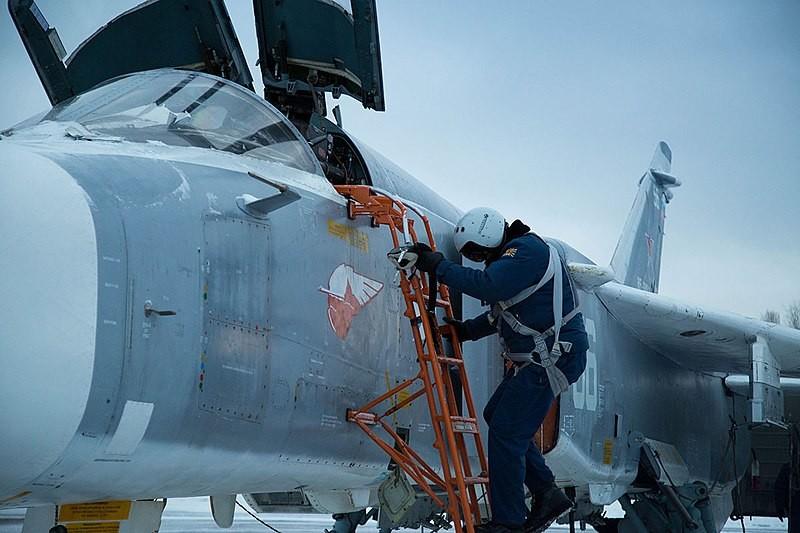 Su-24 del 98ª Regimiento de la Guardia de Aviación Mixta.