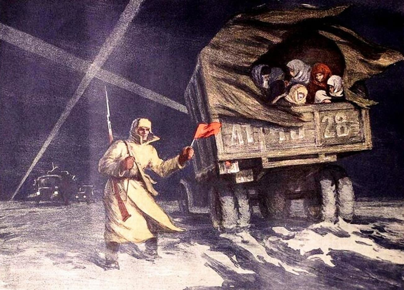 Solomon Boim. Ladoga – cesta življenja, 1949