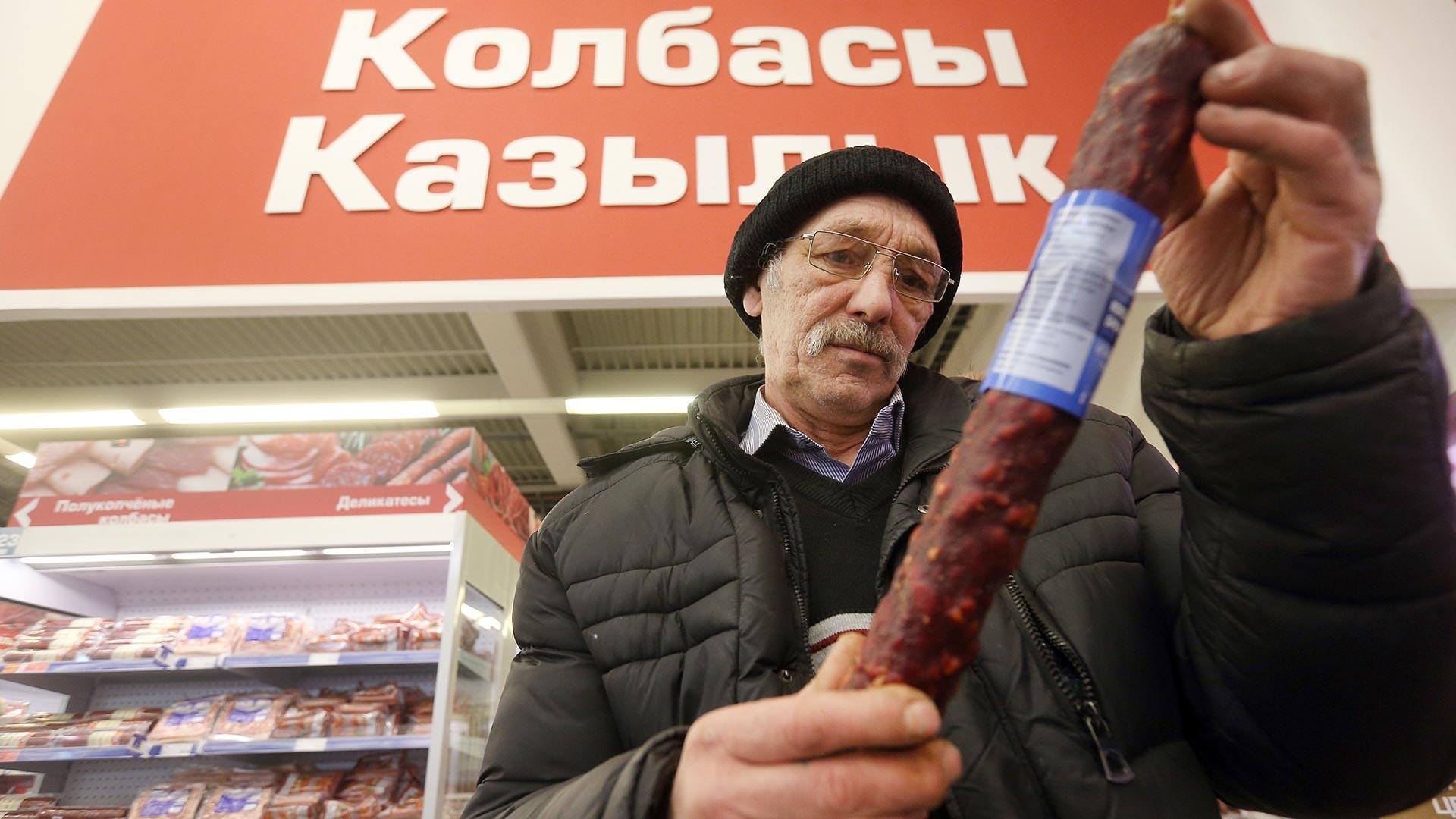 Di sebuah pasar swalayan di Kota Kazan, Republik Tatarstan.