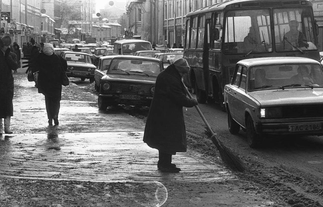 « C'est comme ça le travail », rue Piatnitskaïa, années 1980