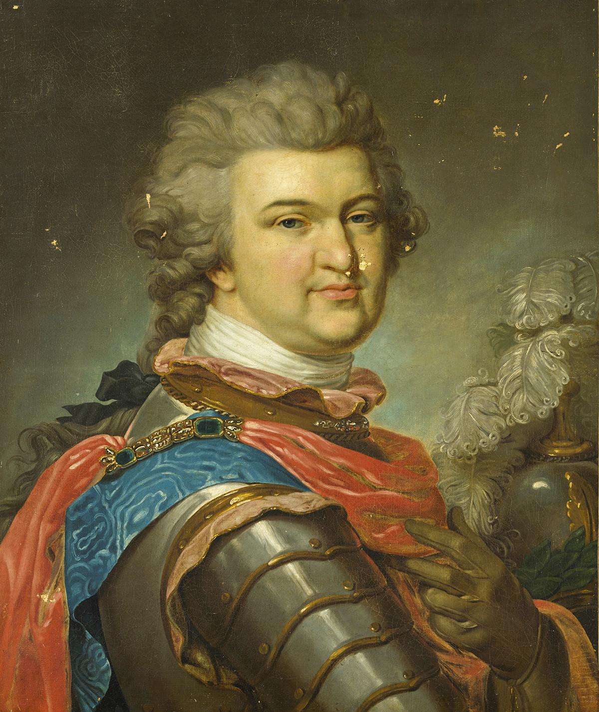 Pangeran Grigory Aleksandrovich Potyomkin (1739—1791), sekitar tahun 1790. Ditemukan dalam koleksi Museum Hermitage, Sankt Petersburg.