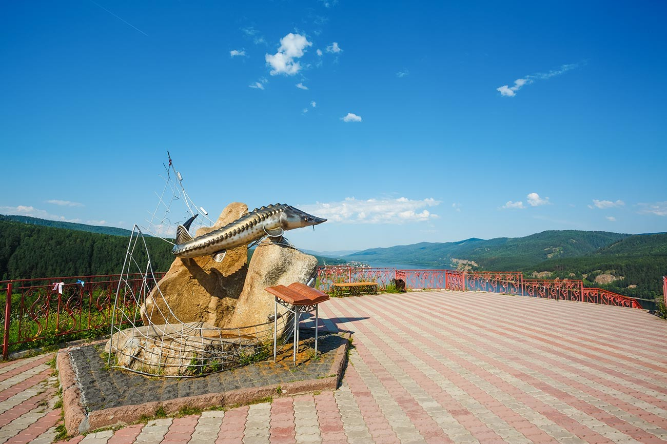 A monument to the Tsar-fish