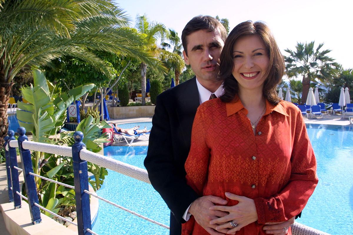 Yury Malenchenko and his wife Yekaterina Dmitriyeva
