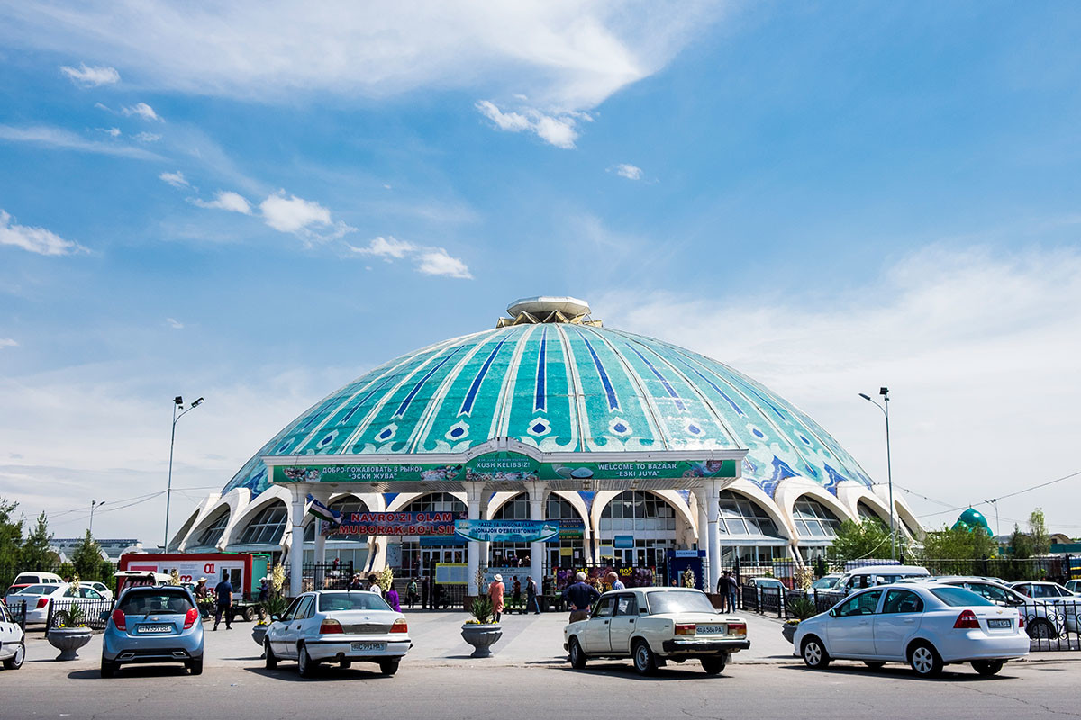 El Bazar Chorsu o Eski Yuva de Tashkent, una de las principales atracciones de la ciudad.