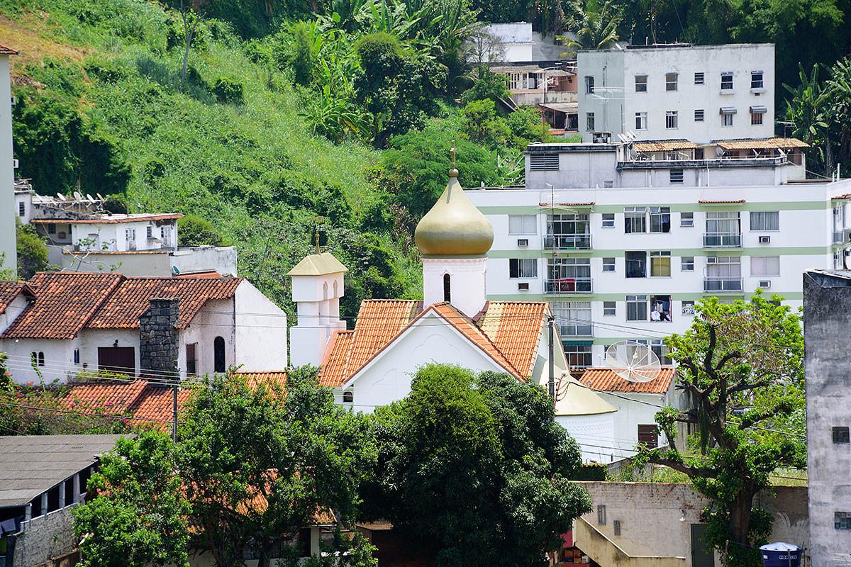 Iglesia ortodoxa rusa de San Mártir Zenaida, Río de Janeiro, Brasil.