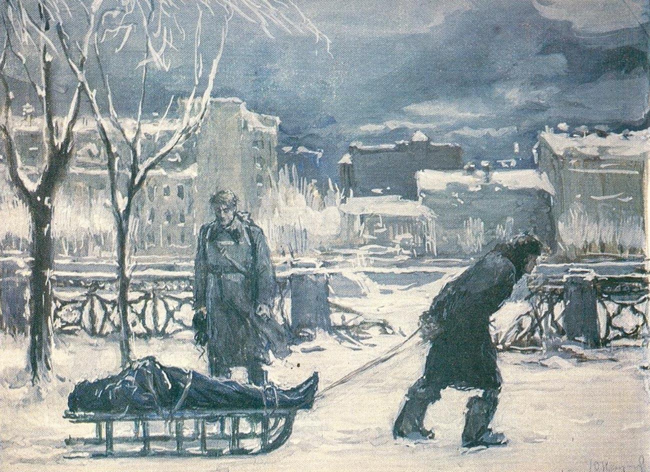 Yu・ネプリンツェフ、『封鎖』(1943年)