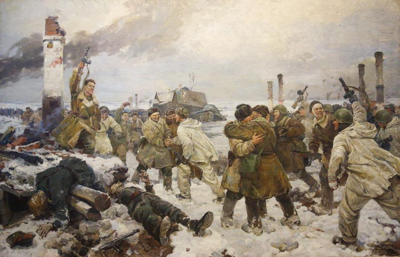 V・セローフ、I・セレブリャヌイ、A・カザンツェフ、『封鎖の決壊』(1943年)