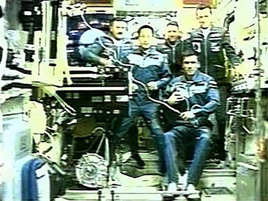 Юрий Маленченко на борту МКС