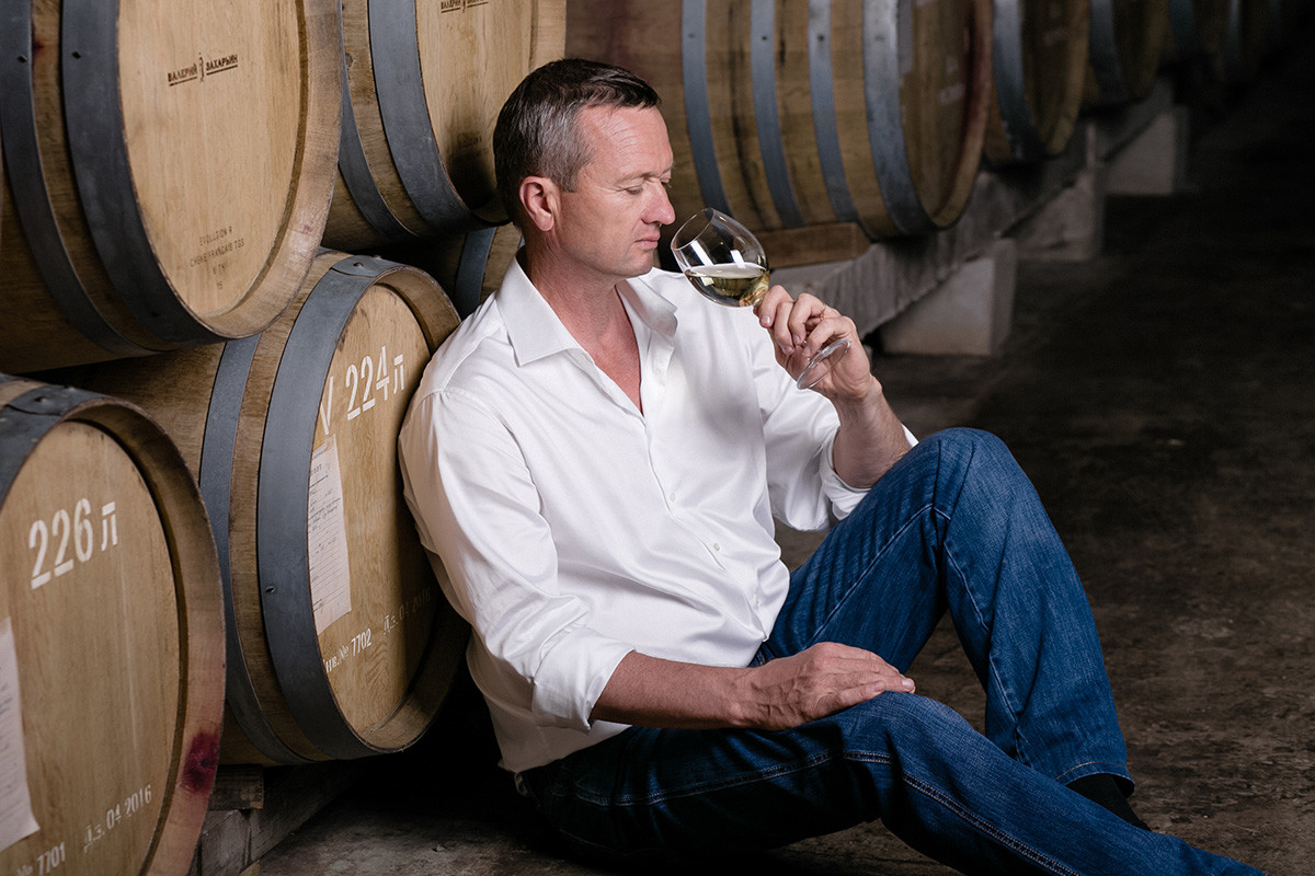 The winemaker Valery Zaharin, who more than 20 years ago devoted his life to winemaking.