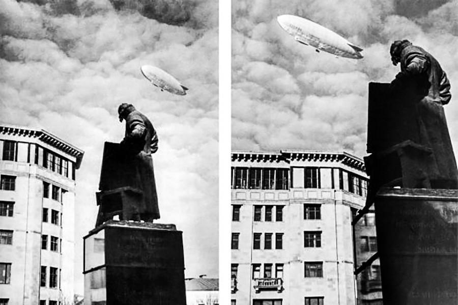 SSSR-V6 na nebu nad Moskvo