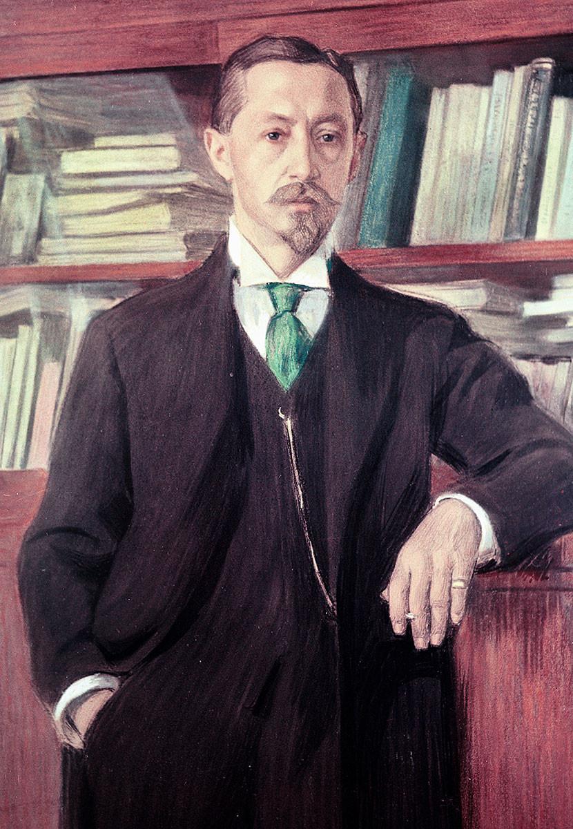 Portrait of Ivan Bunin, by Vladimir Rossinsky, 1915.