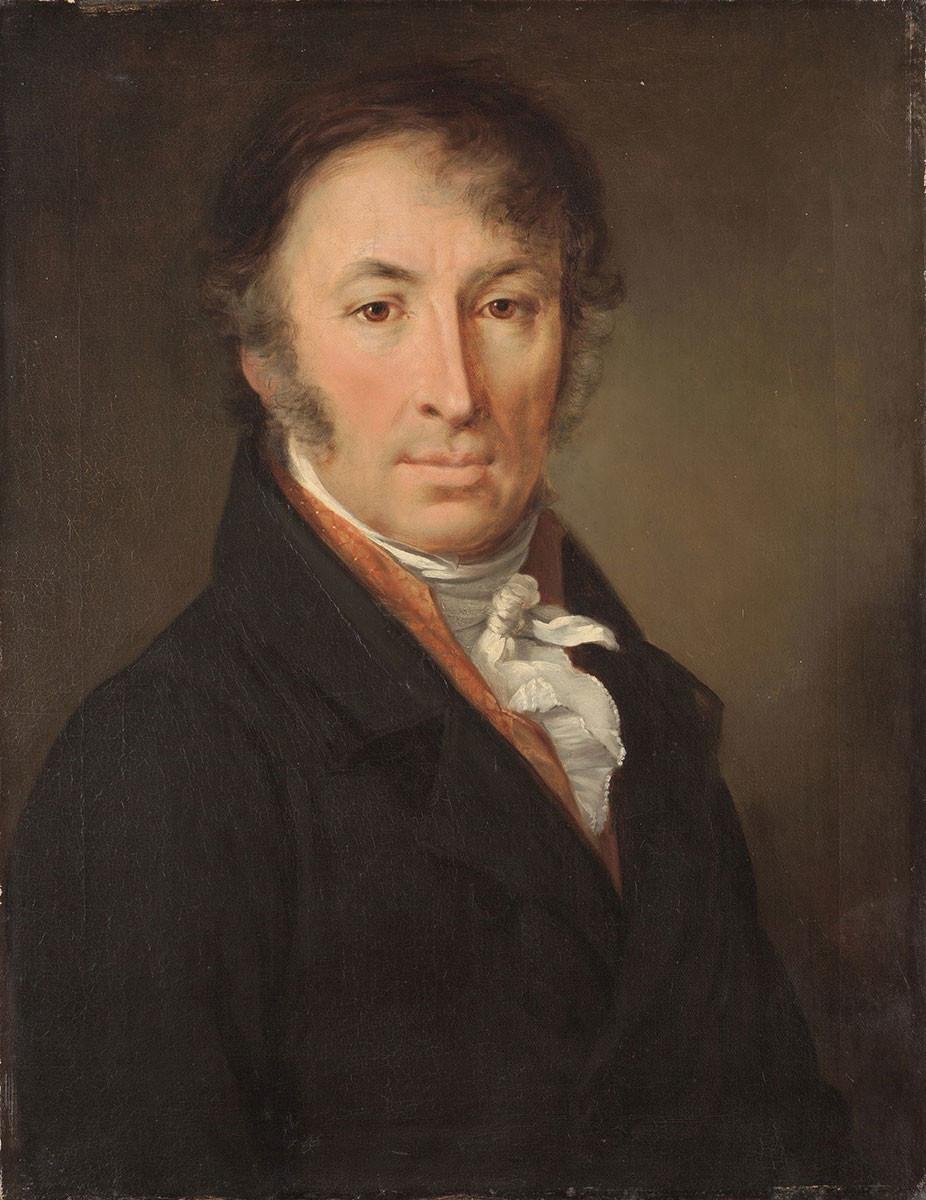 Portrait of Nikolai Karamzin, by Vasily Tropinin, 1818.
