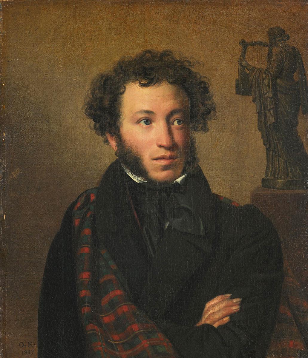 Portrait of Alexander Pushkin, by Orest Kiprensky, 1827.