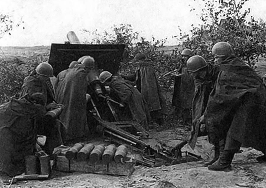 Советская артиллерия на Ленинградском фронте, сентябрь 1941 г.