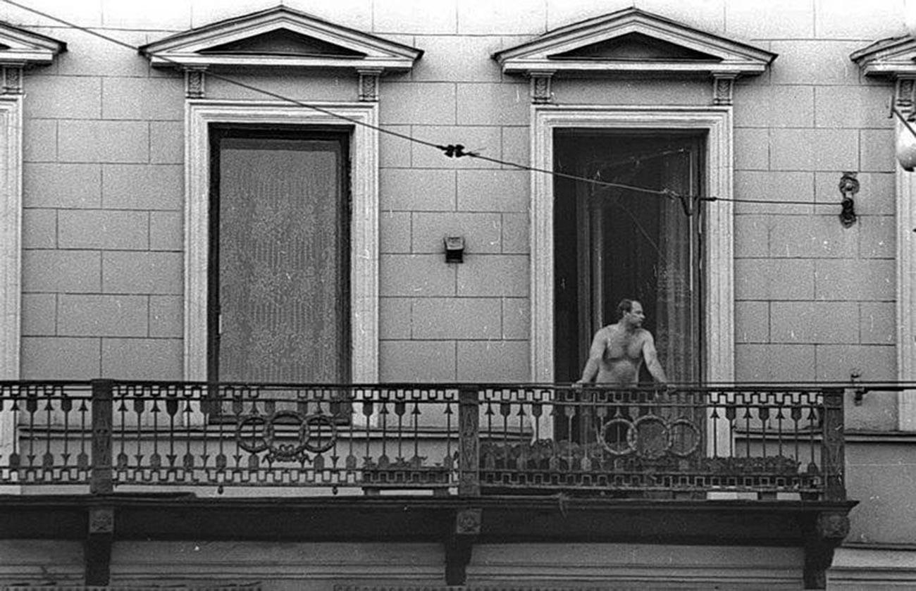 Au balcon, 1976