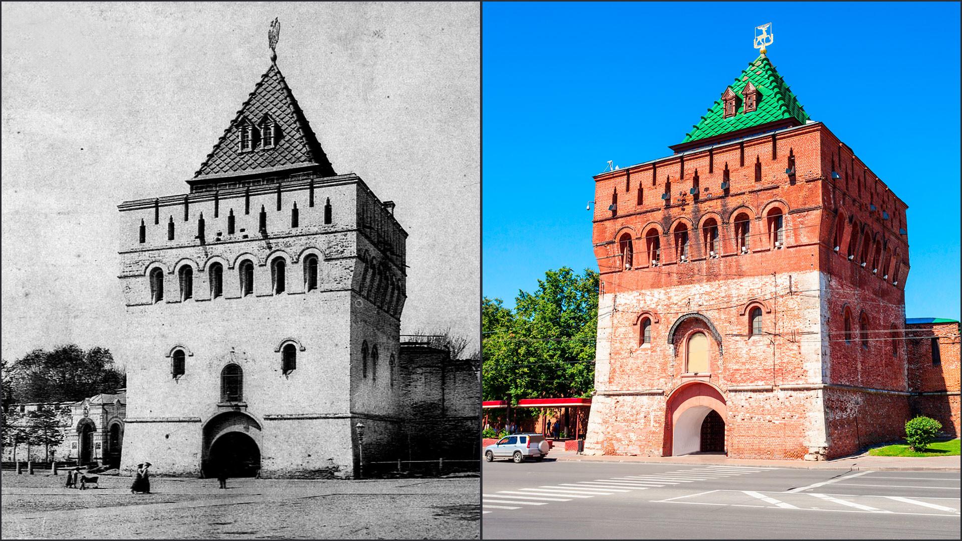 Dmitrievskaya Tower through the centuries.