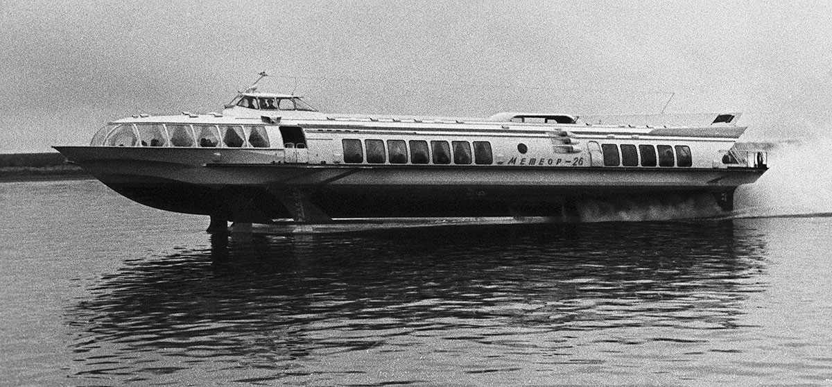 'Meteor', the most widespread Soviet hydrofoil, 1968.