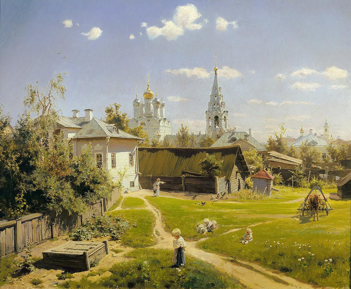 19世紀のモスクワのある地域の光景