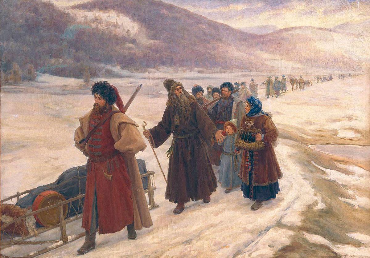 Sergei Miloradovich.  Avvakum in Siberia, 1898