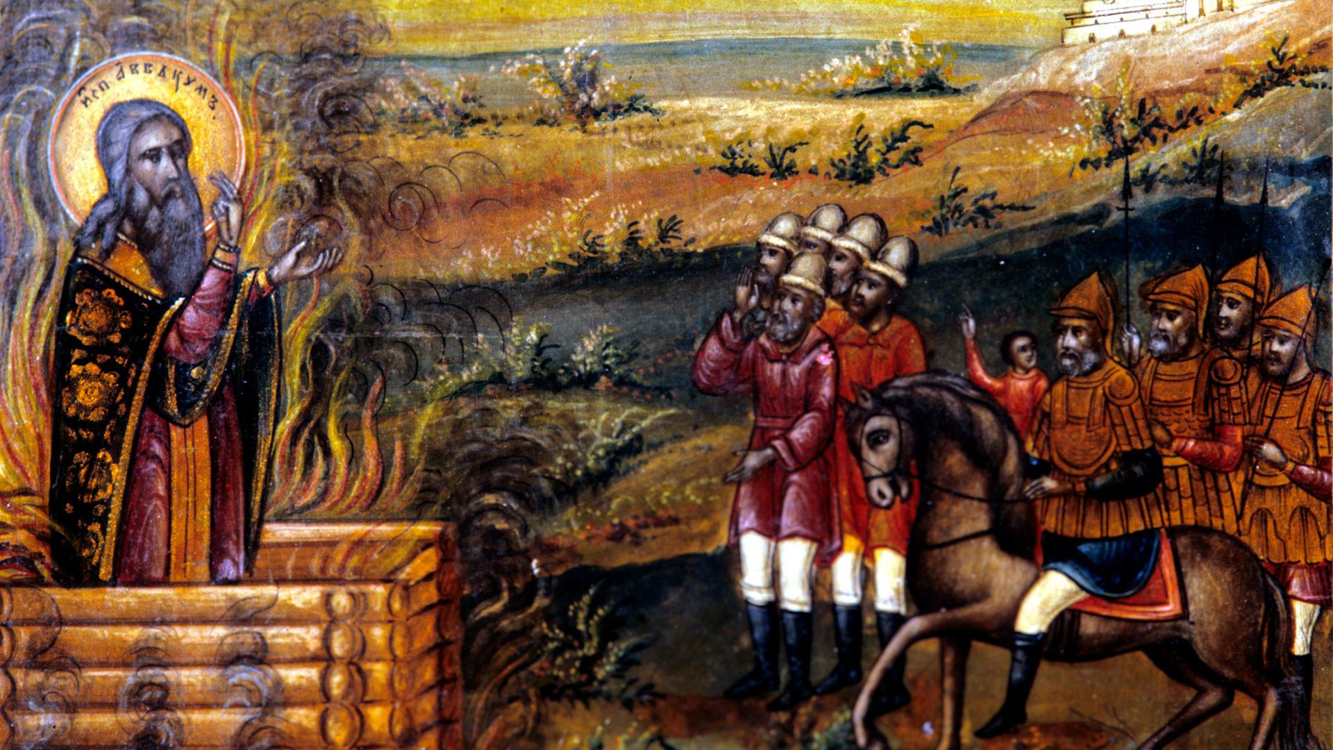 Riproduzione di un'icona del santo martire e confessore Avvakum