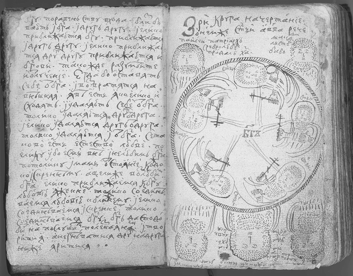 Disegno di Avvakum. Collezione Pustozerskij di I. N. Zavoloko